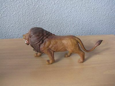 "Lion Figure Figurine 5"" Long Tree House Kids  Hard Plastic"