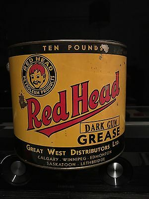 Red Head Petroleum Products 10 Lb Grease Can.