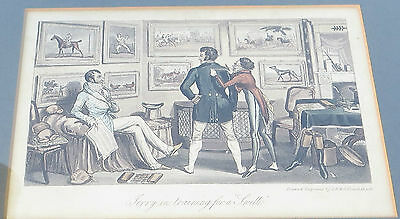 Terry in training for a Swell, Hand Coloured Etching - George Cruikshank 1820