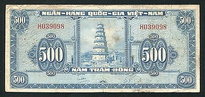 VietNam South 500 dong banknote 1955 Pick 10a, pinholes
