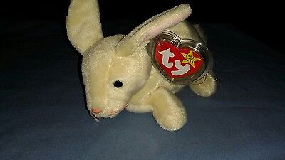 TY Beanie Baby: Nibbler The White Rabbit (4216)