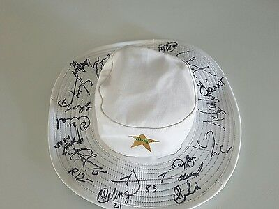 Personally Signed Pakistan Cricket 2017 Odi Team Floppy Hat