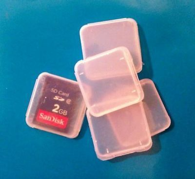 25 x Plastic cases for memory cards Memory Card Cases for SD SDHC Sandisk Cards