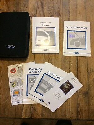 98-04 Ford Focus Owners Handbook Pack With Stamped Service Book