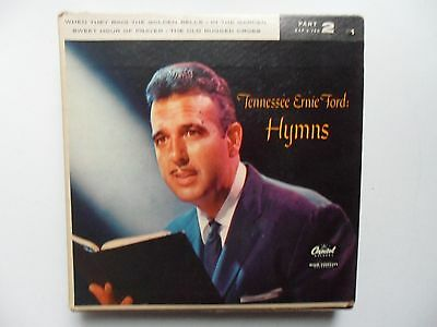 "Tennessee Ernie Ford Hymns  Part 2  The Old Rugged Cross + 3   7"" Ep Vinyl"