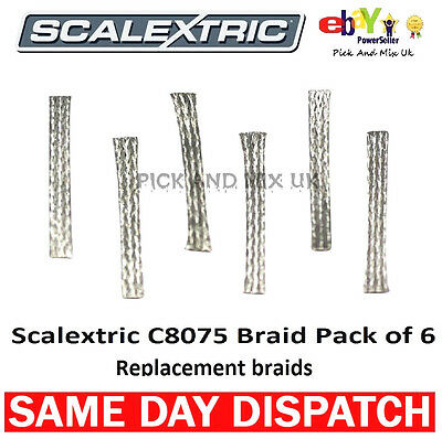 SCALEXTRIC Replacement Braids Pack Of 6. Easy Fit (C8075)