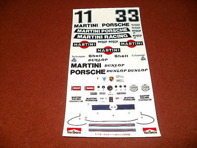 LOGOS for TAMIYA 1//12 PORSCHE 935 MARTINI /& LM 1976 DECAL w CORRECTED COLOURS