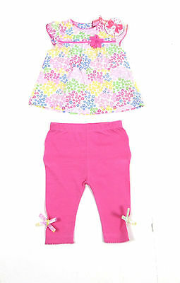 Mini Moi Baby Girls 2 Piece Floral Blouse Leggings Outfit Set 0 - 24 Months