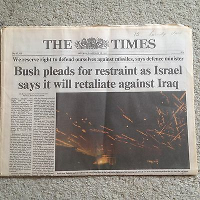 The Times newspaper 19th January 1991 Gulf War  COMPLETE