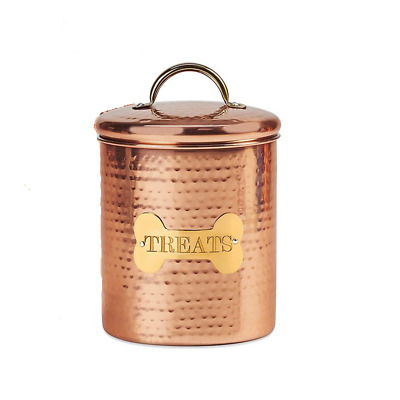 King Charles Copper Dog Canister Finest Copper and Gold Plated Handle XL or M