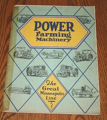 1928The Great Minneapolis Line Tractors and Implements Advertising Sales Catalog