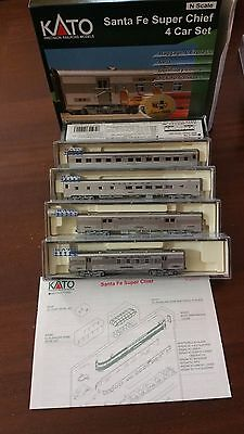 Kato N Scale #106-6003 4 Car Set Santa Fe Super Chief Set C New Ovp