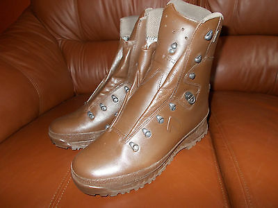 Genuine British Army New Haix Goretex Cold Wet Weather Brown Boots Size 12 (L)