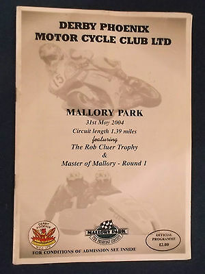 Mallory Park Motor Cycle Meeting 31/5/04 Programme