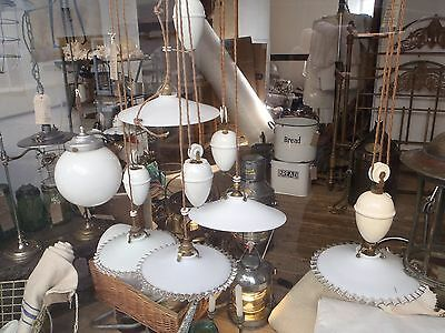Original Rewired & Restored PAT tested Antique French Rise and Fall with shade