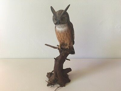 Small Owl carving - very fine detail