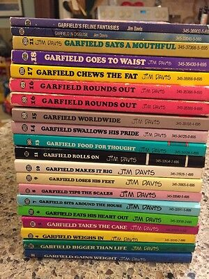 Vtg Jim Davis Garfield Cat Comic Strip Cartoon Book Lot  20 Softcover 80's 90's