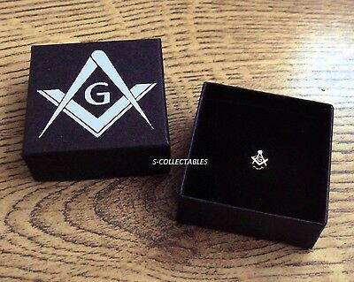 TINY Masonic 5mm PIN BADGE / GOLD PLATED SQUARE & COMPASS G, BLUE LODGE GIFT