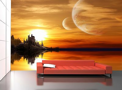 Planet Landscape  Wall Mural Photo Wallpaper GIANT WALL DECOR Paper Poster