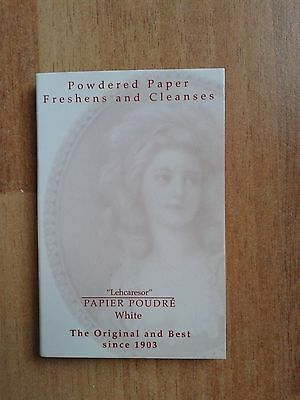 Lehcaresor Papier Poudre White Blotting Papers Brand New 65 Sheets