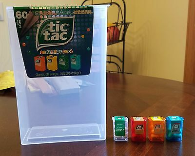 Tic Tac 4 Mini boxes 3.9g + large Tic Tac container from EUROPE