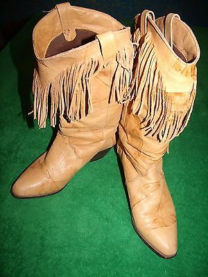 Women's DINGO leather western boots with fringes (8243) size 8.5M