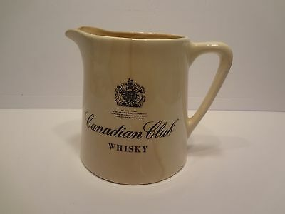 Vintage Ceramic Canadian Club Whiskey Pitcher 32 ounce made in U.S.A.