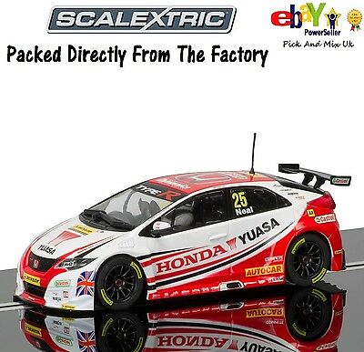 NEW IN  SCALEXTRIC Slot Car No25.  BTCC Honda Civic Type R - Matt Neal, C3734