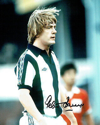 Peter BARNES Signed Autograph 10x8 Photo AFTAL COA WBA West Bromwich Albion RARE