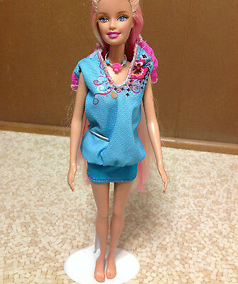 Barbie In Mermaid Tale Princess Streak Color Change Hair Tattoo Merliah Doll