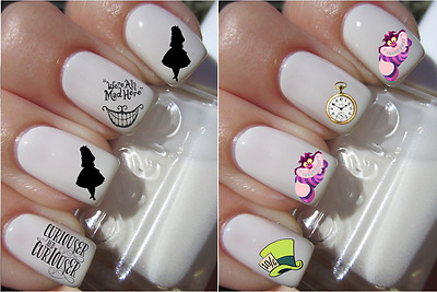 Disney Alice In Wonderland Nail Art Decals Stickers Water Transfers