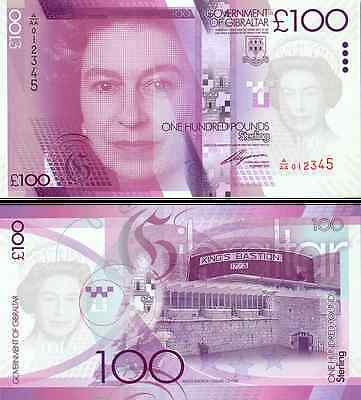 Gibraltar- 2011 £100 Bank Note (UNC)
