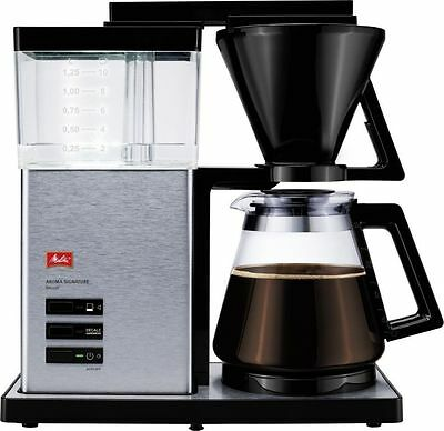 Melitta Aroma Signature Deluxe Coffee Filter Machine, Black and Stainless Steel