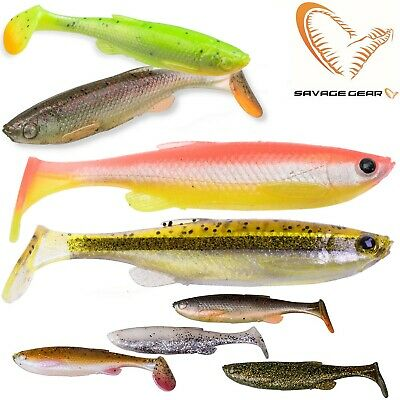 Savage Gear Fat T-Tail Minnow 3pcs Predator Tackle Kopyto Soft  Lures Jig Heads
