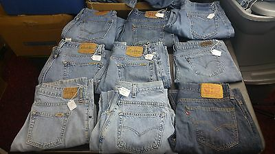 Men's Mixed Lot Of  9 Levi's Brand Jeans,Most waist 32 Various Styles ,Inseam