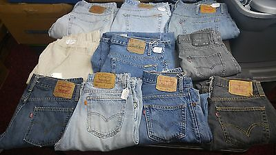 Men's Levi's Lot of 10 Jeans,Various sizes,styles some Faded and Frayed Levi's