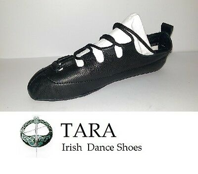 Irish Dance Pumps Gillie Leather Pomps Soft Reel Shoes Tara Brona Handmade