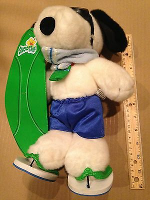 "Vintage Peanuts 11"" Plush SURFER CAMP SNOOPY"