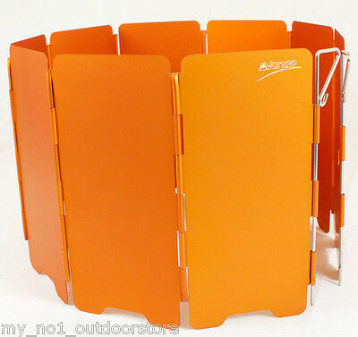 Vango Gas Camping Stove Folding Windshield - Orange