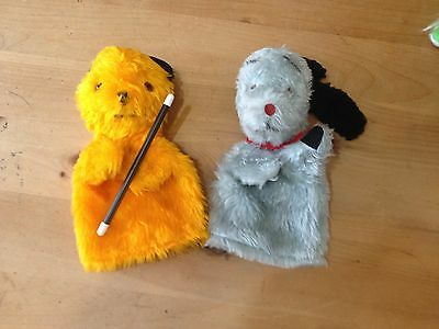 Vintage Sooty Andsweep Chad Hand Puppets