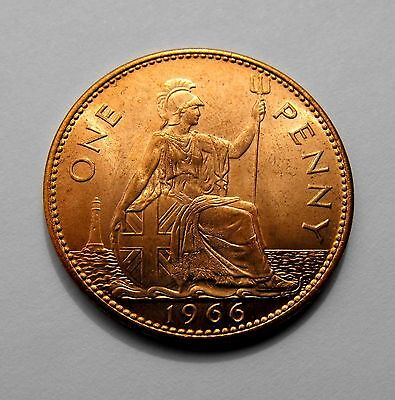 Queen Elizabeth II 1966 PENNY- Brilliant uncirculated condition - Selected grade