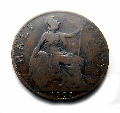 King Edward VII 1905 HALFPENNY in well circulated condition