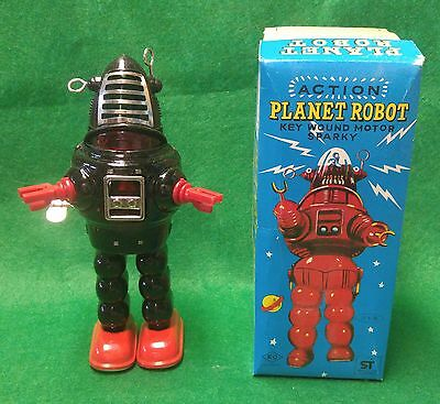 Planet Robot Robby Wind Up KO Yoshia With Original Box JAPAN 1960s Store Stock