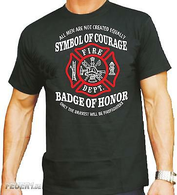 "T-Shirt black: ""Symbol of Courage - Badge of Honor"" (Vorderseite)"