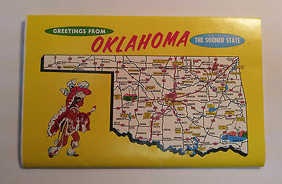 Scenes of Oklahoma The Sooner State greetings booklet mailer