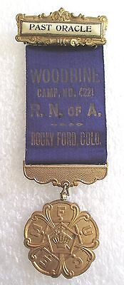 Antique Royal Neighbors of America Fraternal Insurance Past Oracle Badge/Medal