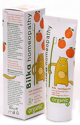 HOMEOPATHY Natural Toothpaste Kids 2+ Organic NO Sugar or Menthol Fluoride Free