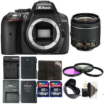 Brand New Nikon D5300 24.2 MP DSLR Camera + Spare Battery and Charger + 32GB Kit