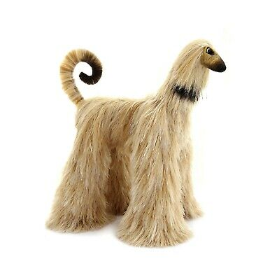 Collectibles Animals, Gray Beige Afghan Hound, Cute Plush Toy, Stuffed Animals,