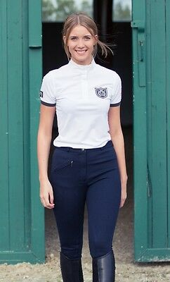 Horze Cool Breathable  Ladies Short Show Sleeve Competition Shirt - Rrp £22 Sale